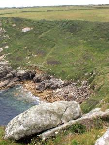 Porthguarnon Cove, Ruth's coastal walk, SWCP