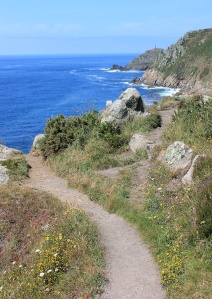 path goes over cliff, Cornwall, photograph by Ruth Livingstone