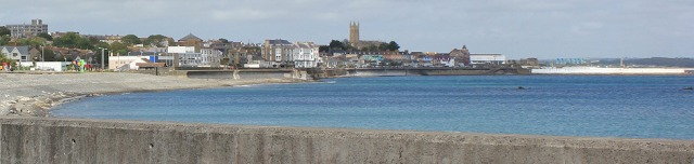 View of Penzance from Newlyn, Ruth coastal walking