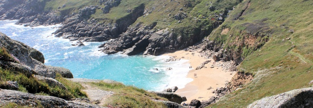 Porth Chapel beach, walking around the coast, Ruth Livingstone