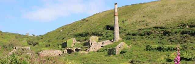 Old mining works, Ruths coastal walk, photograph