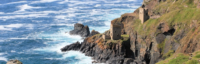 Old mine buildings on cliff, Botallack, Ruth Livingstone