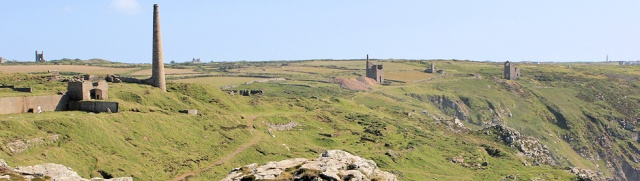 Mines, Botallack, Ruth walking the Cornish Coast