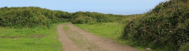 gravel track from Botallack, Ruth's coastal walk