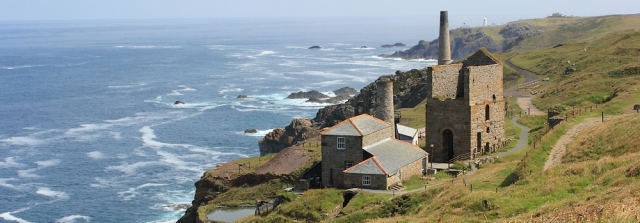 Engine House, Cornwall, Ruth walking the SWCP
