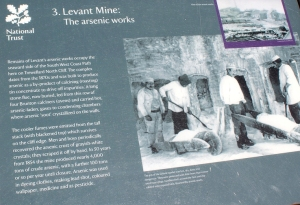 Levant Mine arsenic works, Ruth walking around Cornwall, SWCP
