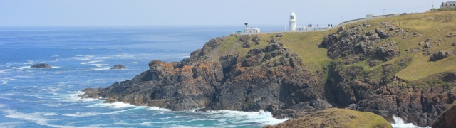 06 Pendeen Watch, Ruth walking round the coast, SWCP, Cornwall