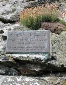 Zennor Head sign, Ruth's coastal walk around the UK