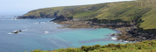 looking to Mussel Point, Ruth on SWCP, north Cornwall