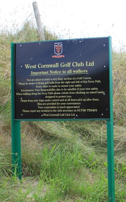 Hayle Golf Course, Ruth walks the coast