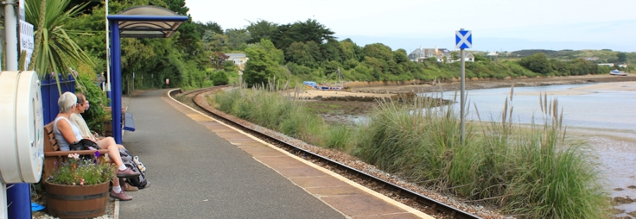 Lelant Station, Ruth walking the SWCP, Cornwall, Hayle