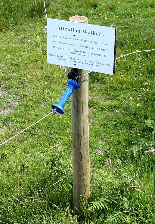 14 Diy Electric Fence Ruth Walks The Coast Near Travalgan