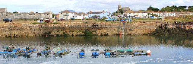 East Quay Harbour, Hayle, Ruth on her coastal walk