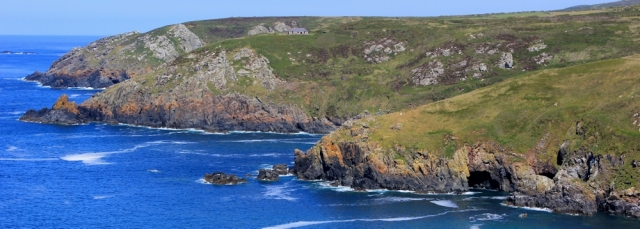 Across Treen Cove, Ruth on her coastal walk around the UK, Cornwall