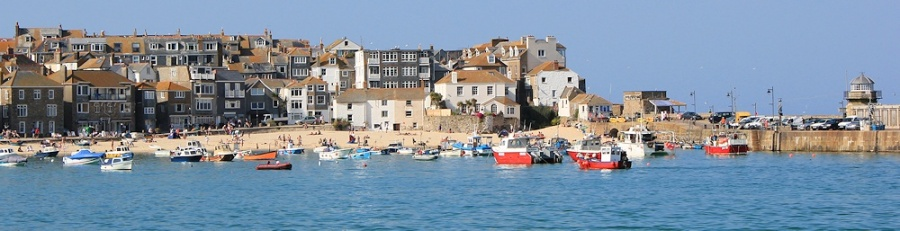 St Ives Harbour and beach, Ruth's coastal walk