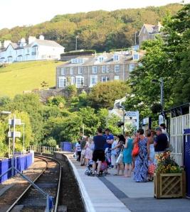 St Ives railway station, Ruth walking the coast, Cornwall
