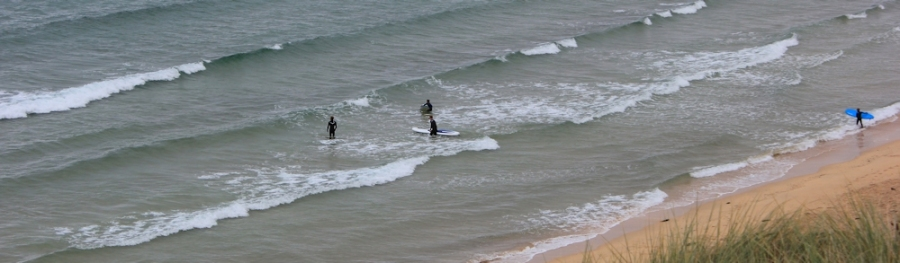 surfing Hayle, Ruth walking the south west coast path
