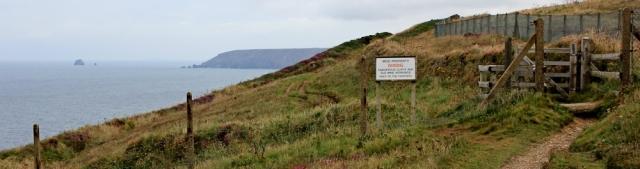 MOD property, Ruth walking the Cornish Coast, SWCP