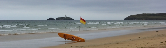lifeguard flag, Hayle Towans beach, Ruth's coastal walk