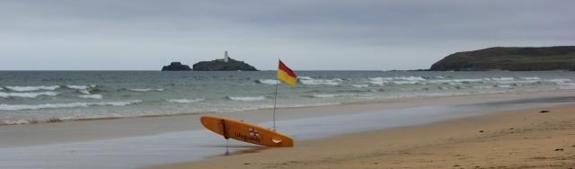 lifeguard flag, Hayle Towans beach, Ruth's coastal walk