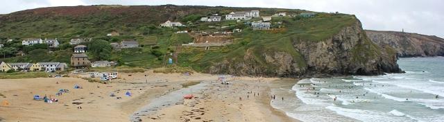 Porth Towan beach, Ruth's coastal walk