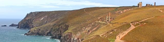 Industrial ruins, looking towards Tubby's Head, Ruth's coast walk