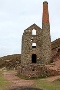 Wheal Coates pumping engine house, Ruth on coast in Cornwall