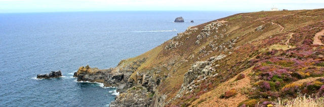 Agnes Head, Ruth walking the SWCP