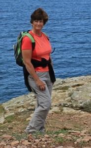 Ruth on Agnes Head, Coastal walking, North Cornwall