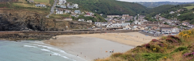 Portreath, Ruth on her coastal walk around the UK, Cornwall