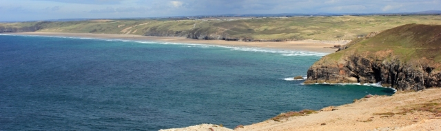 Penhale Sands, Ruth's coastal walk, South West Coast Path