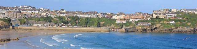 Newquay, Ruth on her coastal walk, SWCP