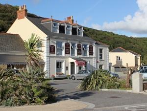 Portreath Arms, Ruth on her coastal walk in Cornwall