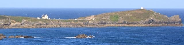Towan Head, Newquay, Ruth on her coastal walk