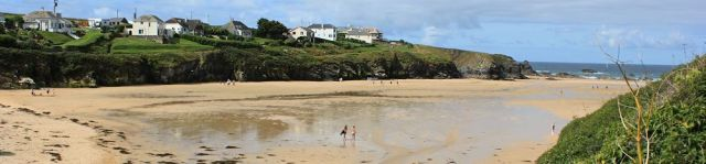 Porthcothan Beach, Ruth walking the coast, Cornwall