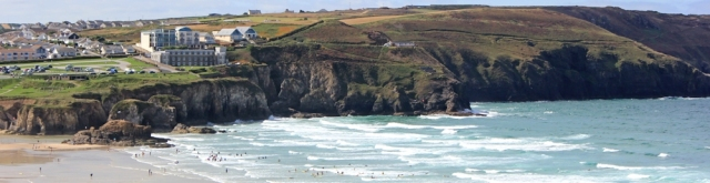 looking back to St Agnes, Ruth Livingstone walking the South West Coast Path