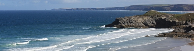 looking up the coast, from Newquay, Ruth's coast walking