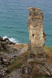 quarry workings, near Tintagel, Ruth coastal walking in Cornwall
