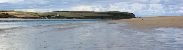 wide sand, Padstow, Ruth walking the coast