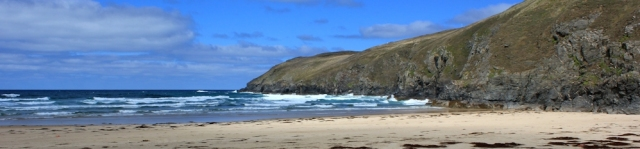 end of Perran Beach, Ligger Point, Ruth's coastal walk
