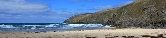 end of Perran Beach, Ligger Point, Ruth's coastal walk