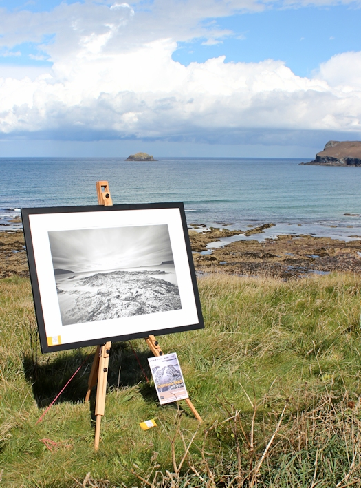 photo for sale, Trebetherick Point, Cornwall, Ruth on the SWCP