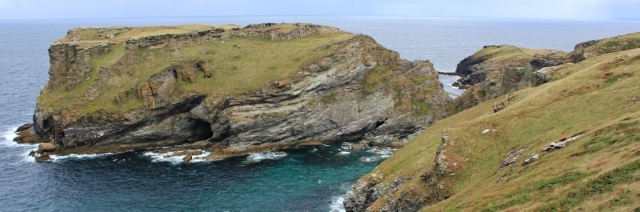 07 Tintagel Head, Ruth walking the SWCP, Cornwall