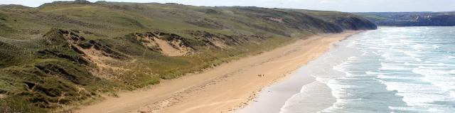 last look along Perran Beach, Ruth's coast walking