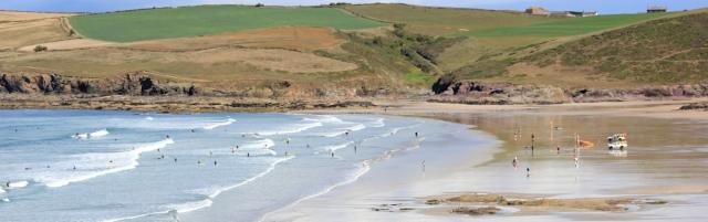 Polzeath Beach, Cornwall, Ruth on SWCP