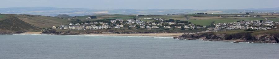 Hayle Bay, near Padstow, Ruth walking the coast, Cornwall