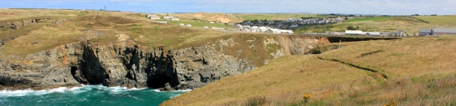 Penhale Camp, Ruth walking the coast in Cornwall