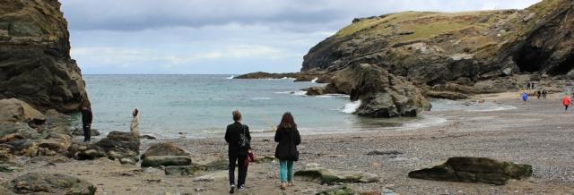 10 Tintagel Haven, Ruth on her coastal walk around the UK
