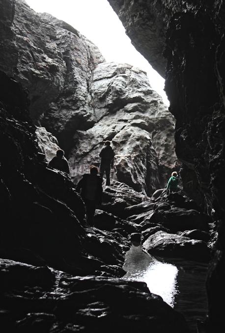 Caves at Tintagel, Ruth's coast walking