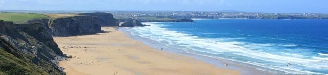 looking back to Newquay, Ruth's coastal walk